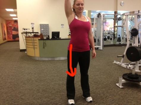 Arm Reach (external oblique) with arrow
