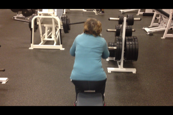 Diane lateral tilt squat up portion