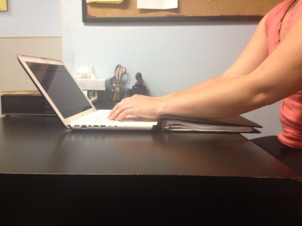 Typing wrists straight with rest