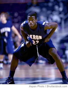 Basketball player defensive position