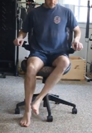 Seated hip external range of motion