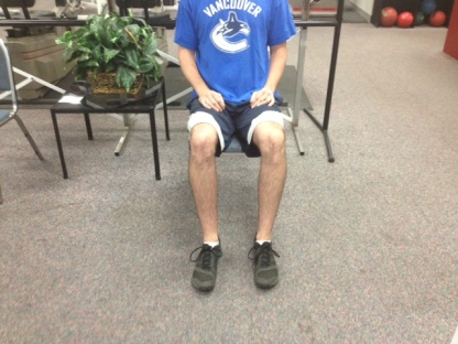 Sitting normal hip positioning