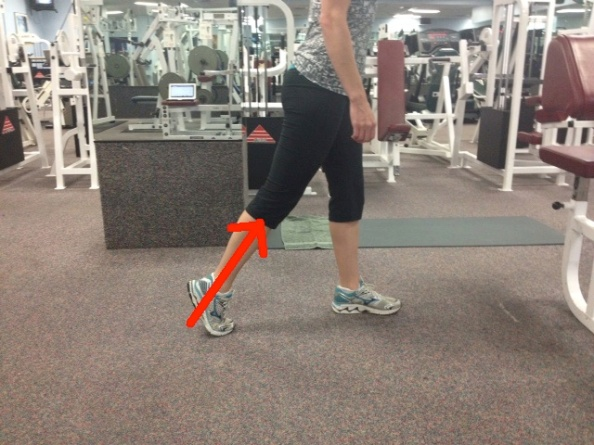 Standing ankle push off one line