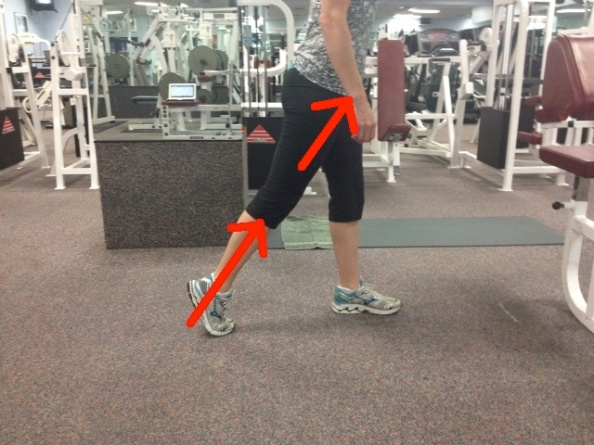 Standing ankle push off two line