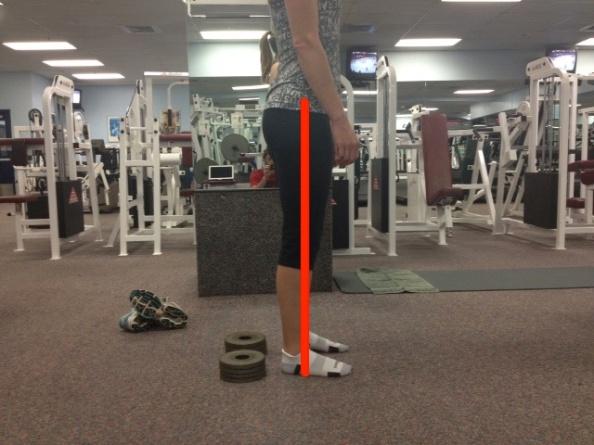 Standing no heel lift with line
