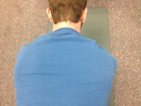 Scapular protraction during push up plus