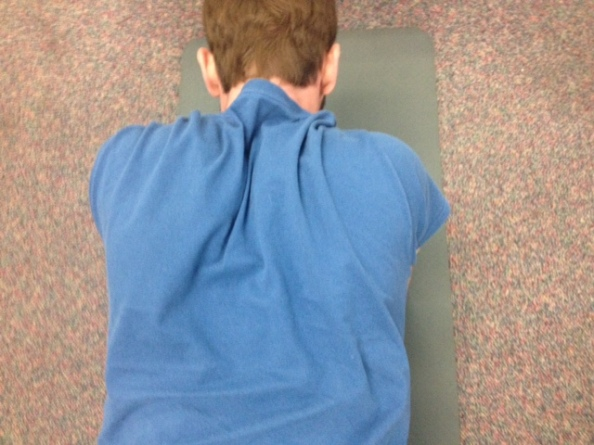 Scapular retraction during push up plus