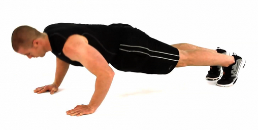 Push up eccentric mid way