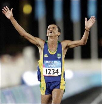 skinny marathon runner