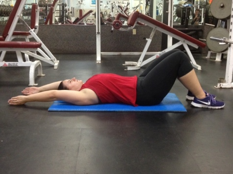 Supine Arm Raise Fully overhead