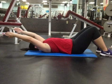 Supine Arm Raise Right before full range of motion
