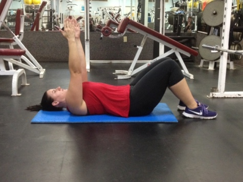 Supine Arm raise straight arm mid point