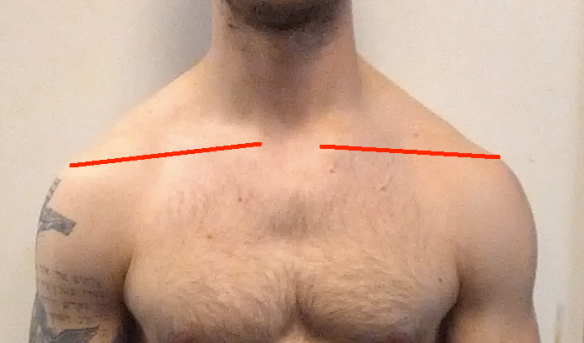 Jeremy Shoulder Close Up with Lines