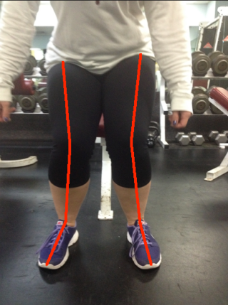 Sit and Stand Bad Knees with lines
