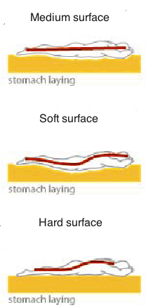 Stomach sleeping mattress hardness