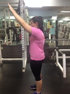 Arm Raise from hunchback position