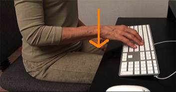 %22good%22 typing wrist close up and gravity line