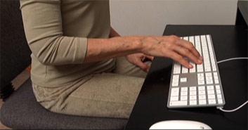 %22good%22 typing wrist close up