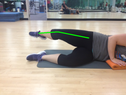 Side Lying Leg Lift Good Abduction with green line