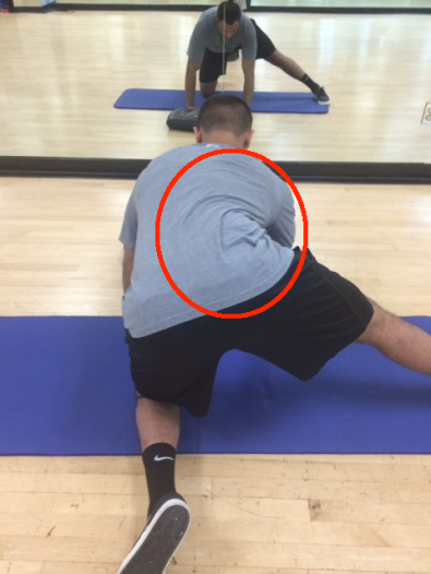 Split Stance Adductor lower back with circle