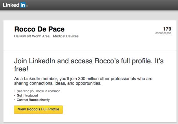 Rocco DePace LinkedIn