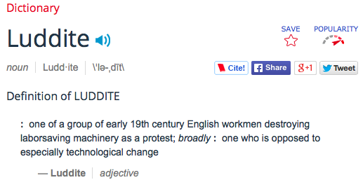 luddite definition