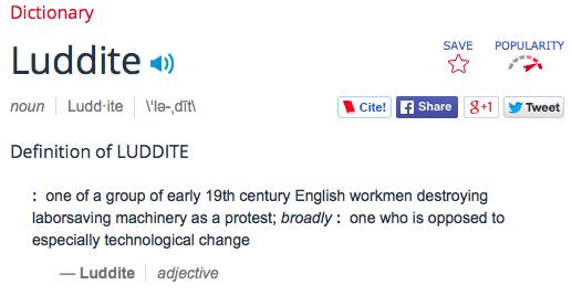 luddite definition
