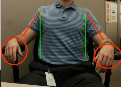 Arm Rest abduction with lines