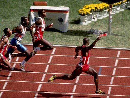 Ben Johnson side view olympics