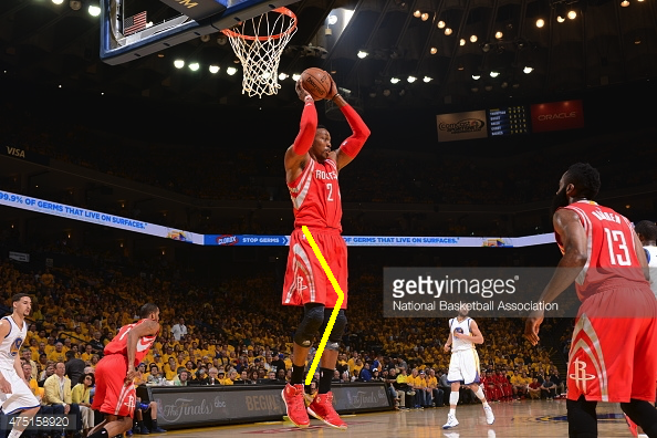 Dwight Howard rebounding 1 with line