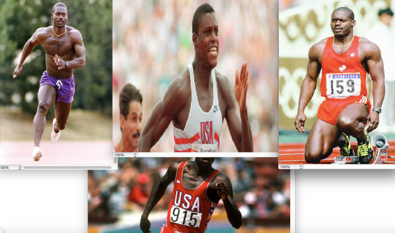 Ben Johnson vs Carl Lewis Size