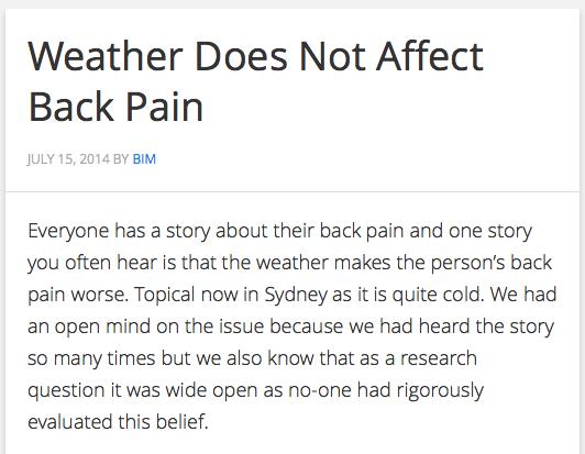 Weather back pain BodyInMind