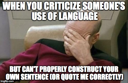 Language criticism meme