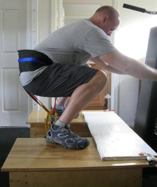 squat with harness 2