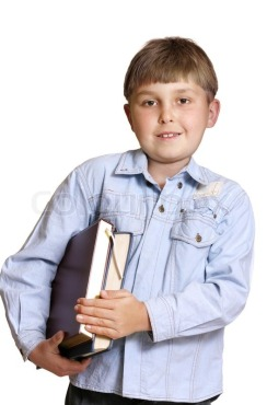 carrying books kid