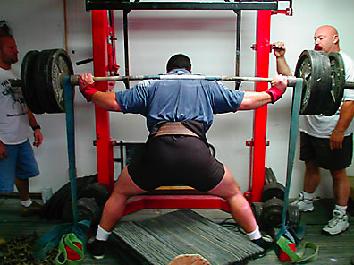 Large human with a lot of weight...using bands.