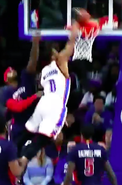 Russell Westbrook great dunk 2