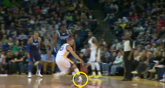 Steph Curry ankle inversion sprain