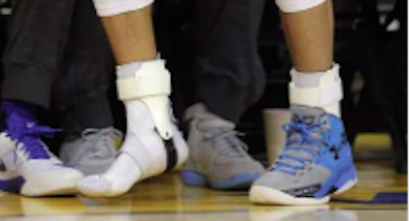 Stephen Curry ankles close up