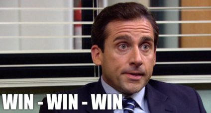 Image result for michael scott win win win